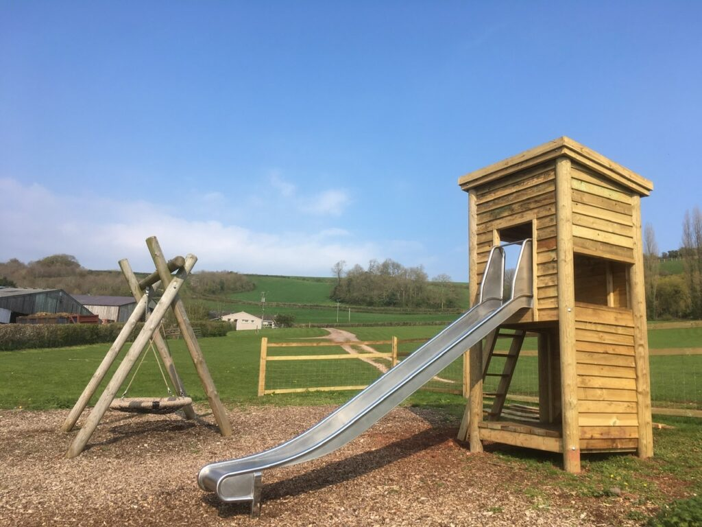 A play area in a campsite